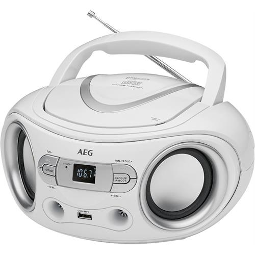 RADIO AEG CD-MP3-USB -SR4374BRANCO