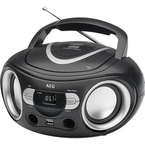 RADIO AEG CD-MP3-USB  -SR4374PRETO
